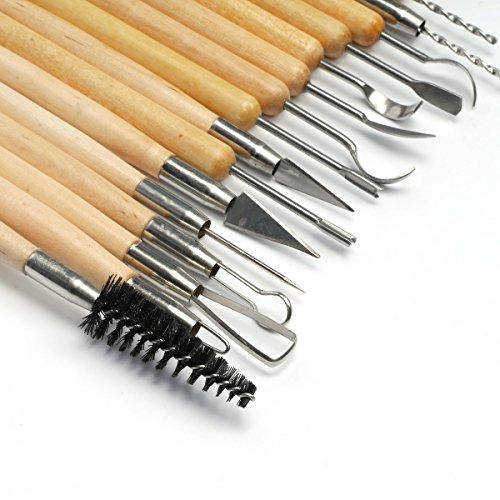 Keramik Werkzeug, VOSO 22 Stück Ton Skulptur Carving Schnitzen vorbildliche Tonwaren Werkzeug Satz