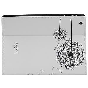Étui à clapet avec support pour iPad 2/3/4 avec écran retina motif pissenlit Blanc