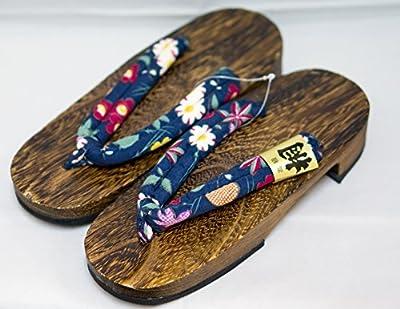 [Japón Hecho] Geta Paulownia sandalias de madera tradicional de calzado Kouyou Diseño Talla M