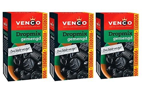 3 X Venco Dropmix Gemischt - Lakritz Süß / Salz - 490g (Drop Holländischen Lakritz)
