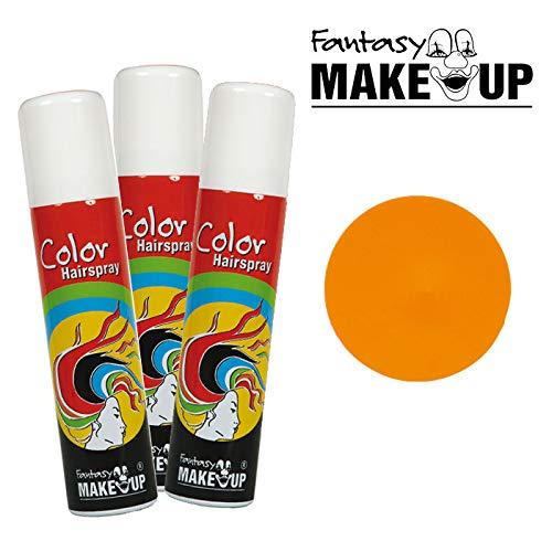 PARTY DISCOUNT® Haar-Color-Spray / Farbiges Farbiges Haarspray - lässt Sich Wieder auswaschen, - lässt Sich Wieder auswaschen, 75 ml Dose, orange