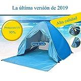 YINGJEE Tienda de Playa Pop Up, Tienda Campaña Playa Plegable y Portátil con Protección Sol Anti UV SPF 50+, para 2-4 Personas Familia Bebé Niños, Pop-up Beach Tent para Vacación Parque