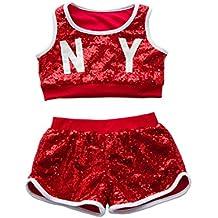215ce275b1a2f VoleseniTM - Disfraz de jazz moderno para niñas y niños con lentejuelas
