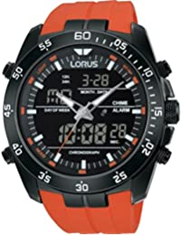 Lorus Alarme numérique Gents analogique sangle d'orange RW625AX9