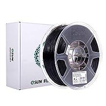 eSUN PLA+ Filament 1.75mm, PLA Plus 3D Printer Gloeidraad, Dimensionale Nauwkeurigheid +/- 0.03mm, 2.2 LBS (1KG) Spoel 3D Afdrukken Materiaal voor 3D Printer, Zwart