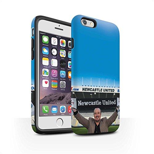 Officiel Newcastle United FC Coque / Matte Robuste Antichoc Etui pour Apple iPhone 6S / Pack 8pcs Design / NUFC Rafa Benítez Collection Bienvenue