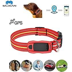 Muxan Mini WiFi GPS Tracker suivi en temps réel Traceurs GPS traqueur GPS + LBS + WIFI pour Chat/Chien-Convient aux grands animaux