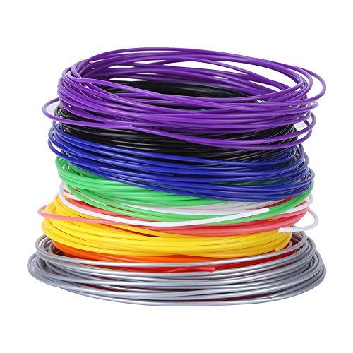 3D Pen Filament Minen, Verschiedene Farben Filament Minen für Low Temperature 3D Pen, PCL Filament Minen 16,4 Fuß Für Jede Farbe,3D Druck Pen Filament Minen 1,75 mm