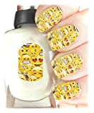 Emojis Nail Art Wraps Childrens Nail Art Stickers - Fun and easy to use! Ideal Christmas Present / Gift - Great Stocking Filler