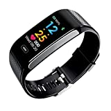 HHRONG Fitness Tracker Uhr, Activity Tracker Uhr Smart Armband mit Herzfrequenz-Blutdruckmessgerät, Touch-Farb-Bildschirm Schrittzähler Uhr, IP67 Wasserdicht Smart Band