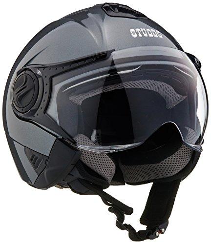 Studds Downtown Half Helmet (Gun Grey, M)