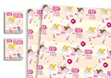 Childrens Luxury Gift Wrap x 5 Sheets & 5 Tags Ballerina