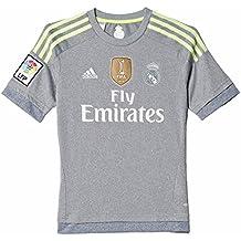 adidas Real A JSY YWC - Camiseta para niño, color gris / lima, talla 164
