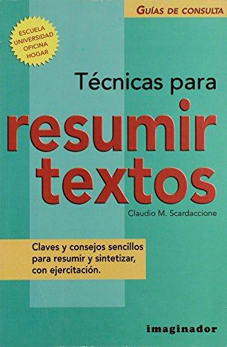 Tecnicas Para Resumir Textos/Techniques