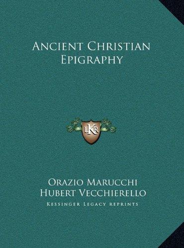 Ancient Christian Epigraphy
