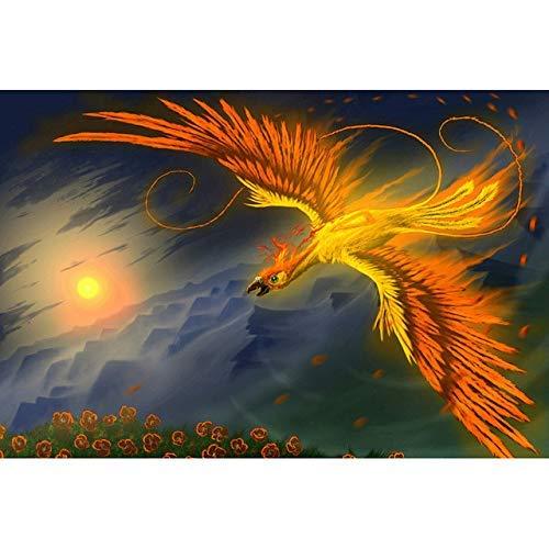 Leinwand Wanddekoration 5D Diy Diamant Malerei Diy Diamant Stickerei Weihnachtsdekoration Halloween Blume Sonne Phoenix Bohren Voll Kunsthandwerk Wandaufkleber , Ibuprofen , 50*60cm(19.69*23.62inch) (Halloween Im Phoenix)