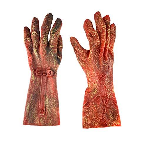 BESTOYARD Halloween Zombie Handschuhe Latex Teufel Handschuhe Horror Tier Handschuh Ganze Maskerade Halloween Cosplay Zubehör 1 Para (große Größe) (Halloween-dekorationen Ideen Zombie)