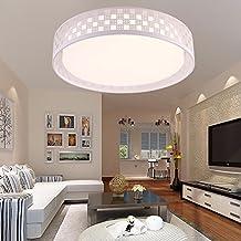 Lámpara de techo Iluminación LED plancha Lámpara de techo moderno simple mesas dormitorio salón comedor Luces de luz blanca de 48*11cm