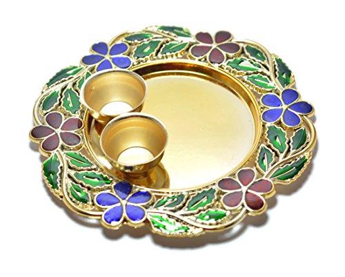 JERN Decorative Pooja Thali (Plate)