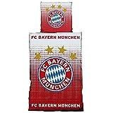 FC Bayern München Bettwäsche Logo Rot - Weiß 135x200 cm inkl. Kissenbezug 80x80 cm