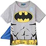 Batman Tshirt Kinder T-Shirt Superhelden t-Shirt mit Umhang Dc Comics (8 Jahre 128 cm)