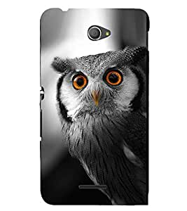 FUSON White Faced Scops Owl 3D Hard Polycarbonate Designer Back Case Cover for Sony Xperia E4 :: Sony Xperia E4 Dual