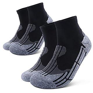 Running Socks,Athletic Socks Hiking Socks Mens Womens Ankle Crew Socks Basketball Socks(2 Pairs)