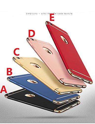 Coque iPhone 7,Coque iPhone 7 Plus,Coque iPhone 6/6S,Coque iPhone 6 Plus, Coque iPhone 6S Plus,Manyip 3 in 1Trois segments de type combiné Coque ,électrodéposition de couleur,Mince case cover(ZG-29) A
