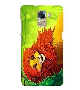 Citydreamz Lion\Jungle\Wild\Animal Hard Polycarbonate Designer Back Case Cover For Huawei Honor 7