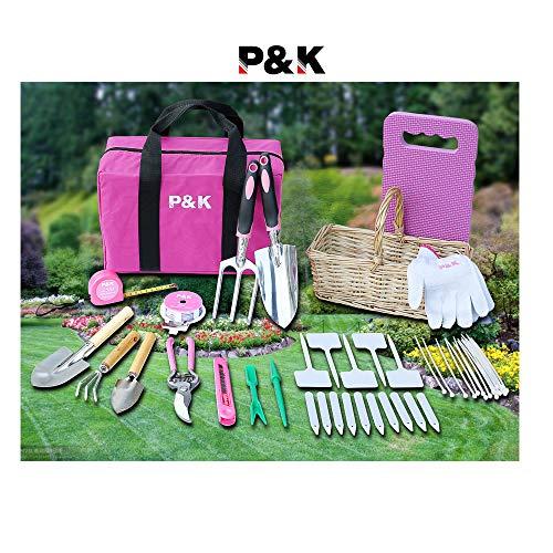 49 teiliges Gartenwerkzeugset mit Korb und Tasche