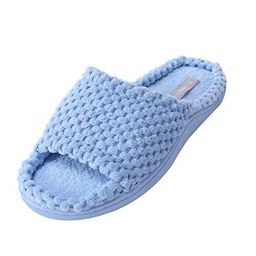 Zapatillas de casa para Mujer Calzado Interior de algodón Zapatillas de Espuma viscoelástica para Hombres con Suela Antideslizante Suave TPR