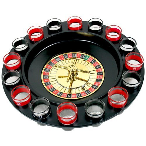 exciting Lives Drinking Roulette Drinking Game with Shot Glasses - Birthday Bar Accessory Gift for Friends