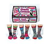 United Oddsocks - Boîte de 6 dépareillées Chaussettes - Femmes/Fille Chaussettes - Cotton Kandy