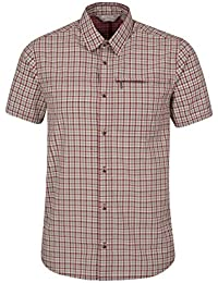 Mountain Warehouse Chemise Homme Manches Courtes Carreaux 100% Coton Holiday