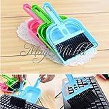 1pc Mini Computer Desk Keyboard Desk Table Brush Dustpan Broom Netbook Car Cleaner M(Random color)