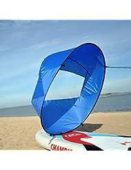 "Huya Force 42"" kayak remo vela ""Scout paleta de viento"", Kit de vela instantánea canoa, remos de viento doble vela (Blue)"