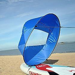 """Huya Force 42"""" voile kayak Paddle """"Scout vent Paddle"""", Kit voile instantanée de canoë, barques vent replier voile (Blue, 42"""")"""