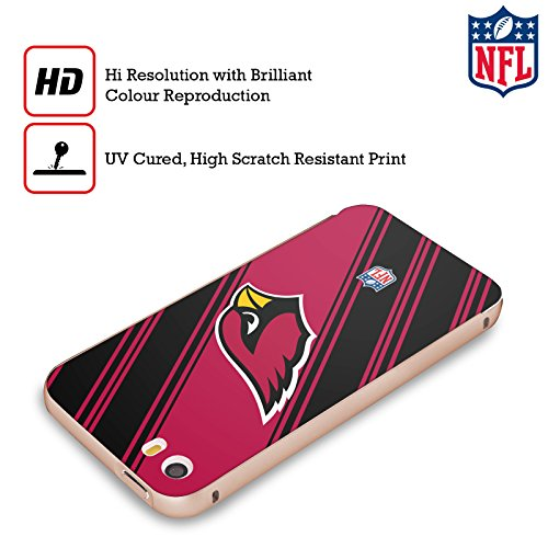 Ufficiale NFL LED 2017/18 Arizona Cardinals Oro Cover Contorno con Bumper in Alluminio per Apple iPhone 5 / 5s / SE Righe