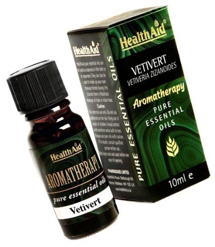 Healthaid Vetivert (Vetiveria zizanoides) Öl 10ml (Erkältungen & Grippe-massage-Öl)