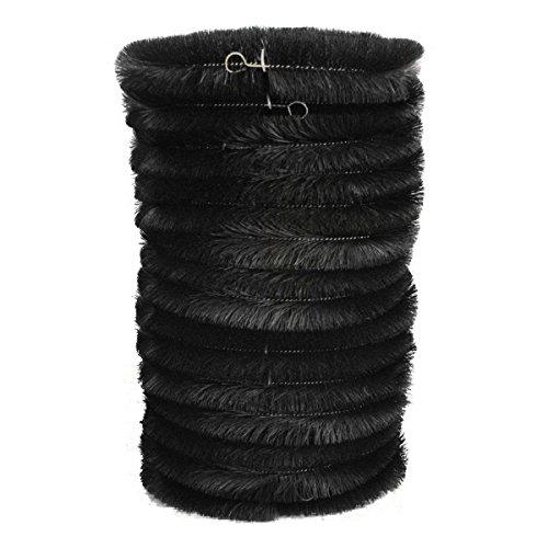 Lot de 15 x Noir Brosse pour gouttière anti Feuilles (4 M)