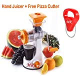 MR Smart Fruit Juicer & Vegetable Juicer Plastic Hand Juicer With Free Pizza Cutter