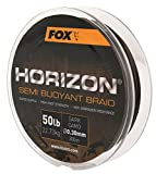Fox Horizon Dark Camo Semi Bouyant Braid 300m geflochtene Schnur, Karpfenangeln, Angeln auf Karpfen, Karpfenschnur, geflochtene Schnur, Durchmesser/Tragkraft:0.30mm/22.73kg Tragkraft