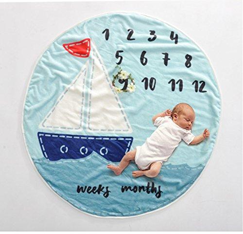 enstein Decke - Neugeborene Fotografie - Runde Teppich + Garland - Neugeborenen Geschenk,B ()