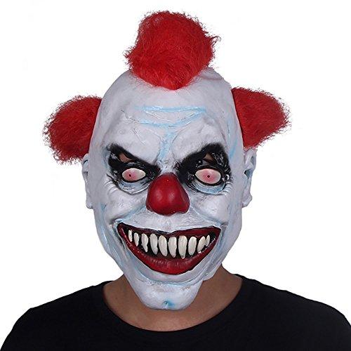 HBWJSH Clown Maske männlich Halloween Erwachsene Latex Kopfbedeckung lustig Großhandel benutzerdefinierte Horror Clown Kopfbedeckungen