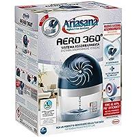 Ariasana Aero 360° kit assorbiumidità, deumidificatore ricaricabile non elettrico, assorbi umidità contro condensa, muffa e cattivi odori, 1 dispositivo e 1 ricarica in Tab da 450g
