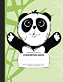 "Panda Bear Composition Notebook, Unruled Blank Sketch Paper: 100 sheets / 200 pages, 9-3/4"" x 7-1/2"""