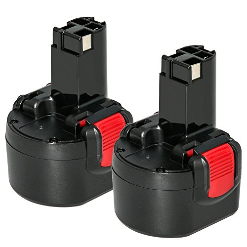 2X NeBatte 9.6V 3,0Ah NI-MH Ersatzakku für Bosch akku PSR960 BAT048 BAT100 BAT119 BH984 BPT1041 23609, 32609, 2607335260, 2607335272, GSR 9.6VE-2, GSR 9.6-2