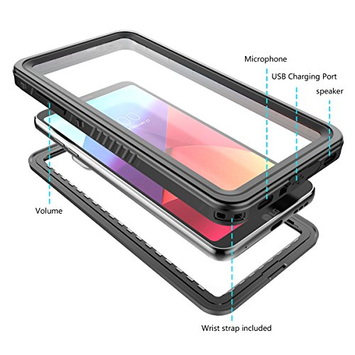 iPhone 7 Plus Wasserdichte Hülle, FindaGift IP68 Outdoor Handyhülle Full Sealed Tasche Case Ultra dünn Full Body Staubdicht Stoßfest Schneedicht Anti-Kratzer Underwater Schutzhülle mit Displayschutzfo Schwarz 7