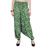 TUNTUK Women's Afgani Pants Green Viscos...