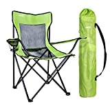 URPRO Camping chair portable folding chair for hiking,camping, hunting, watching soccer games, fishing